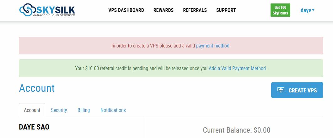 超简单免费撸skysilk12美元,可免费使用VPS12个月(附详细注册+开通VPS教程) 主机测评 第2张