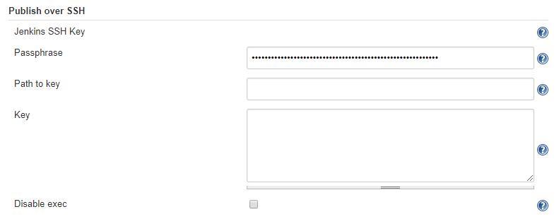 publish over ssh