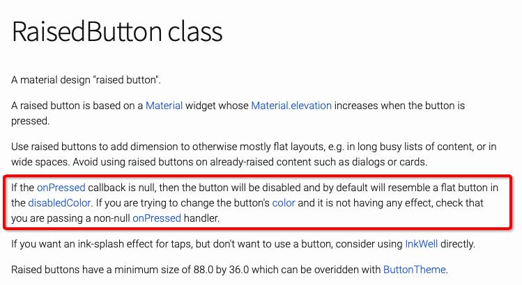 RaisedButton 官方解释