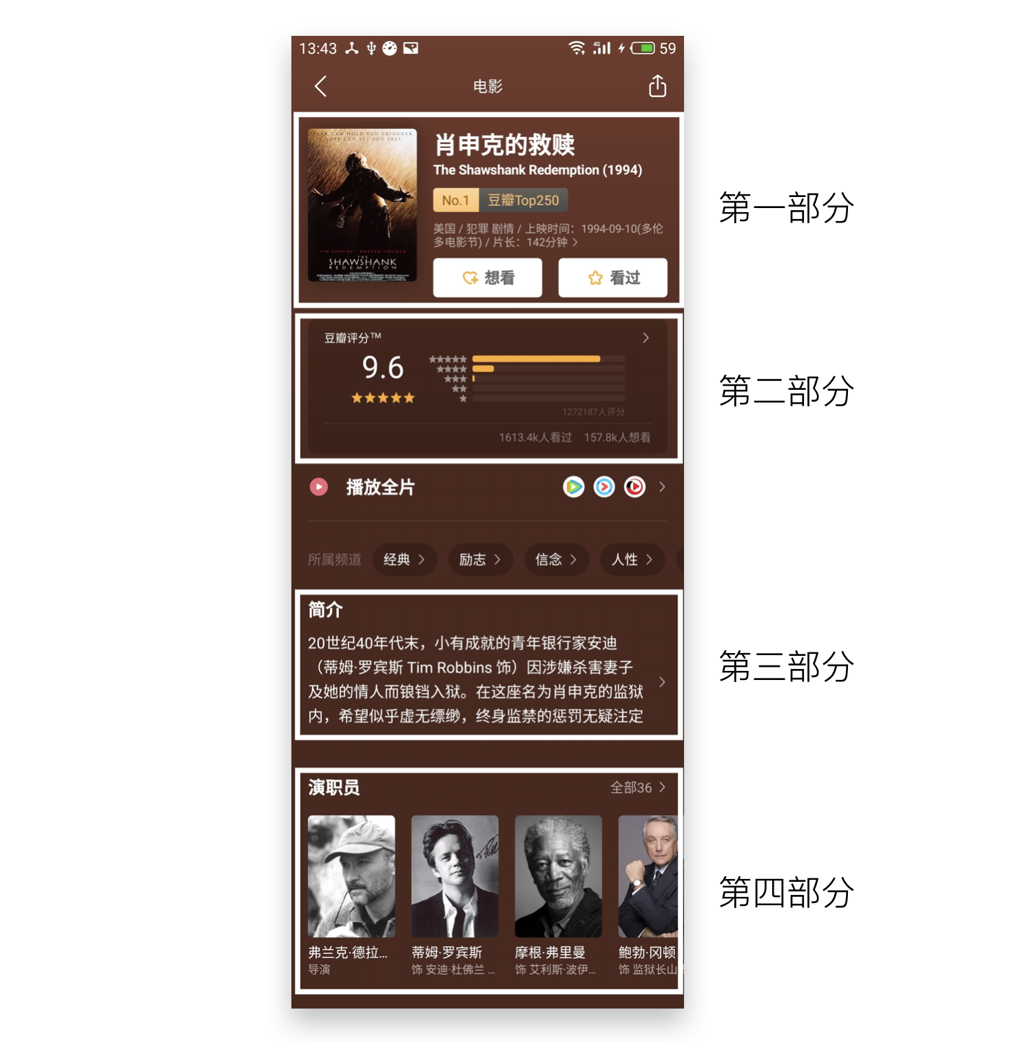 豆瓣电影详情 UI 布局分析