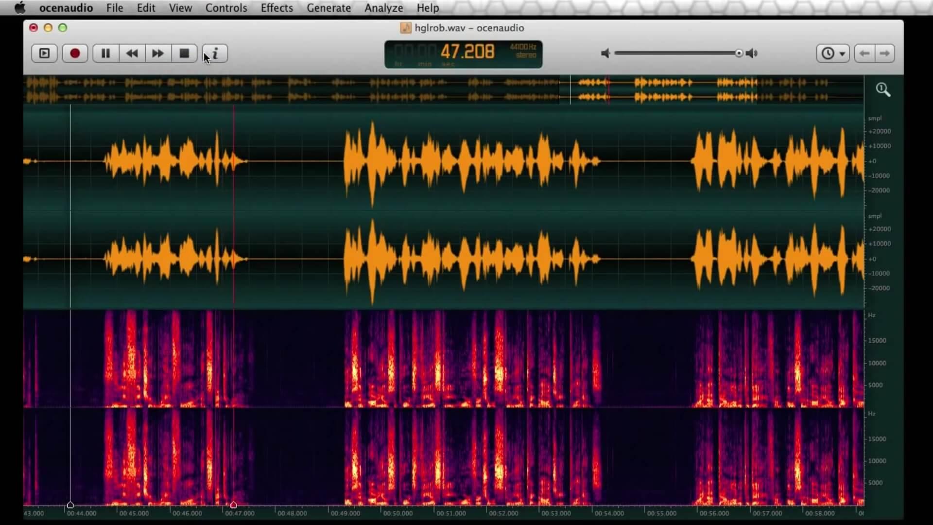 音频编辑器 OcenAudio 绿色便携版