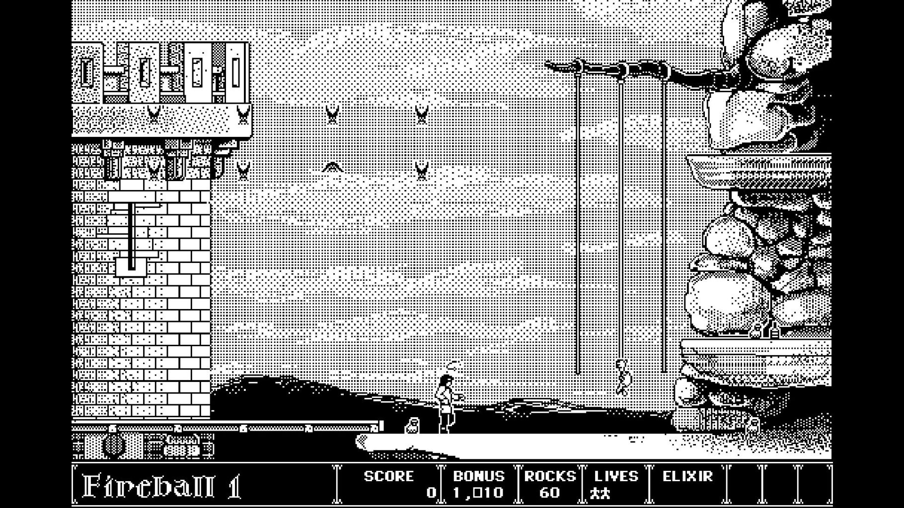Figure 2: Machintosh 上的知名游戏,Dark Castle,画面只有两种颜色