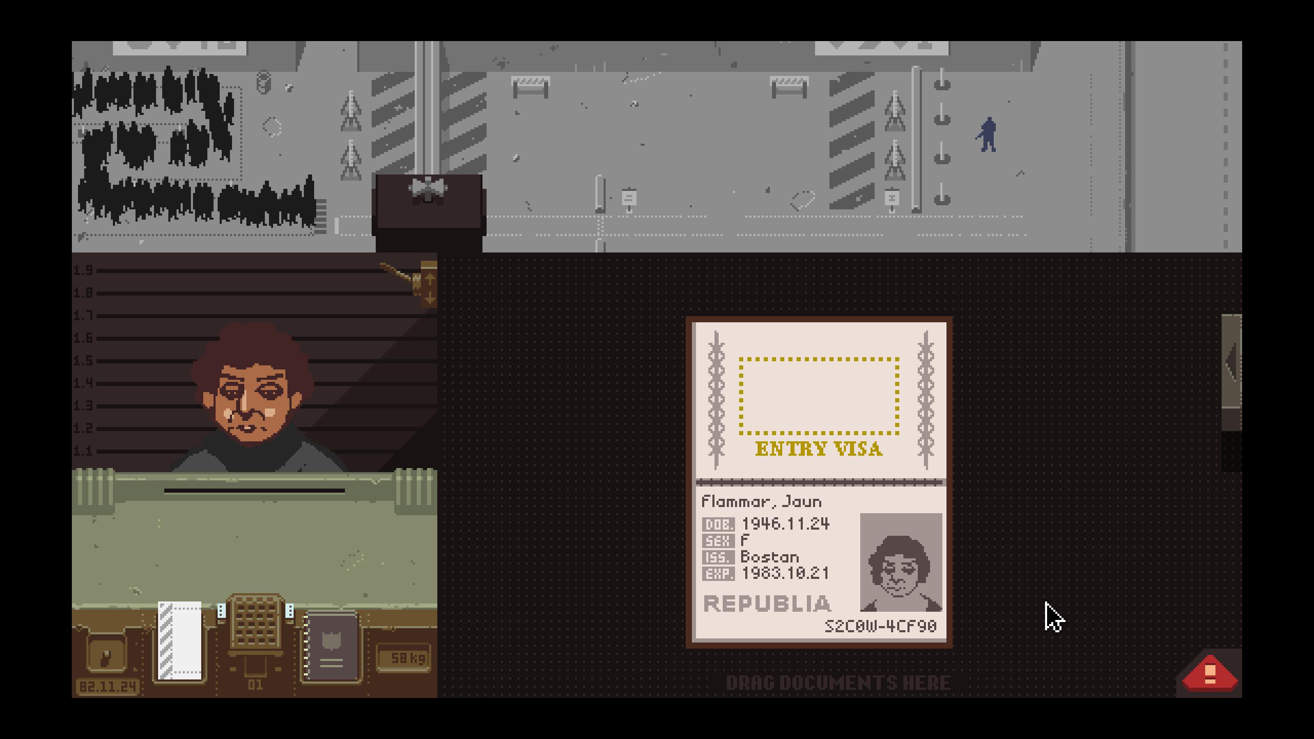 Figure 1: 《请出示证件》游戏画面