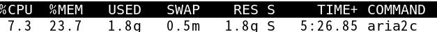 aria2内存占用达到1.8G