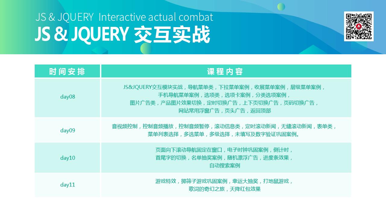 js&jquery交互实战大纲3