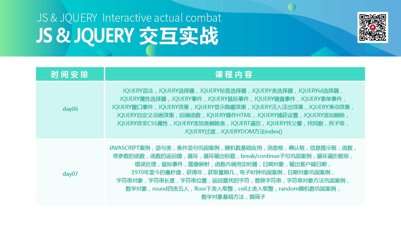js&jquery交互实战大纲2