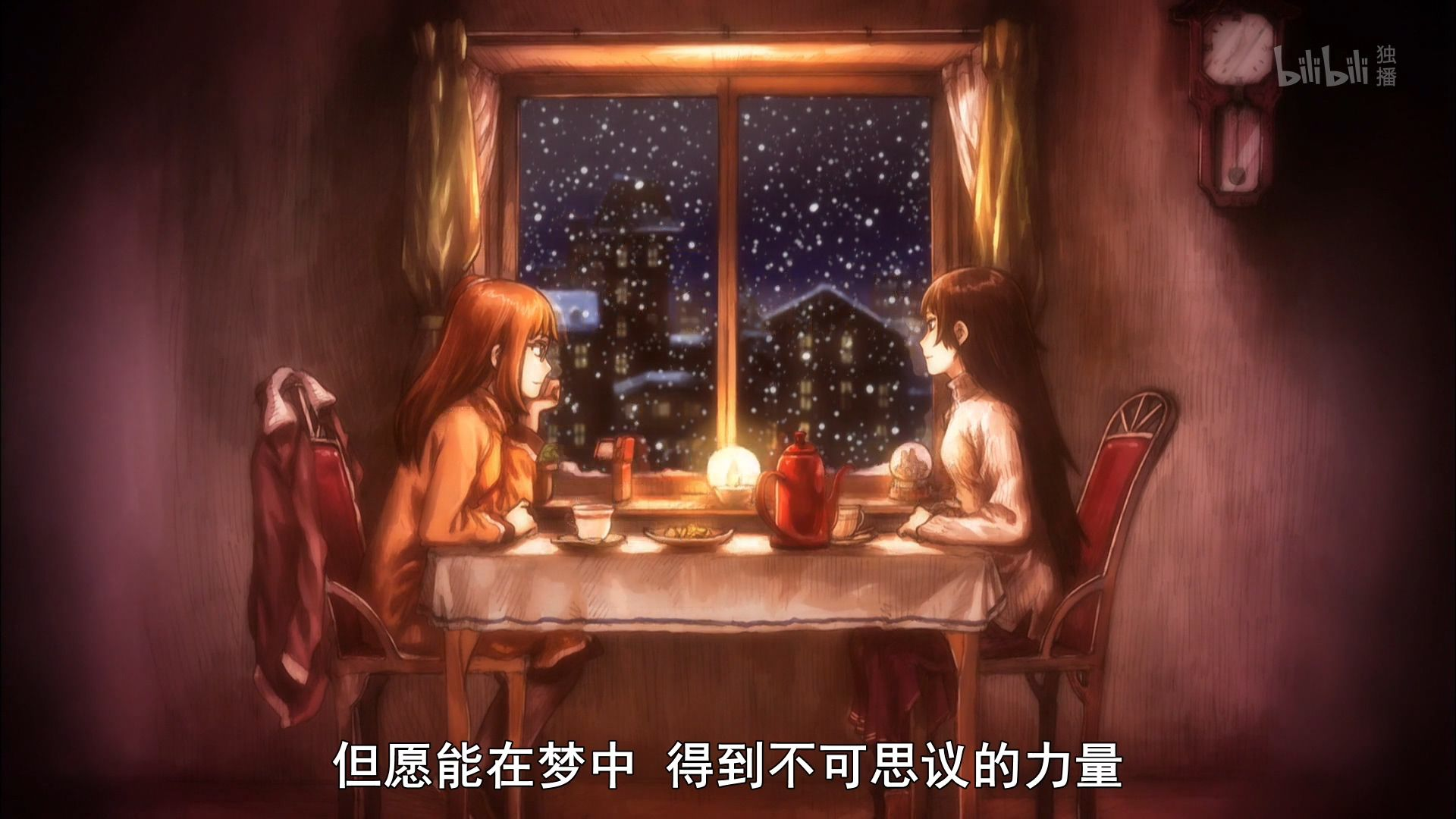 图5-2 ED 画面,安倍吉俊画的人物很好看