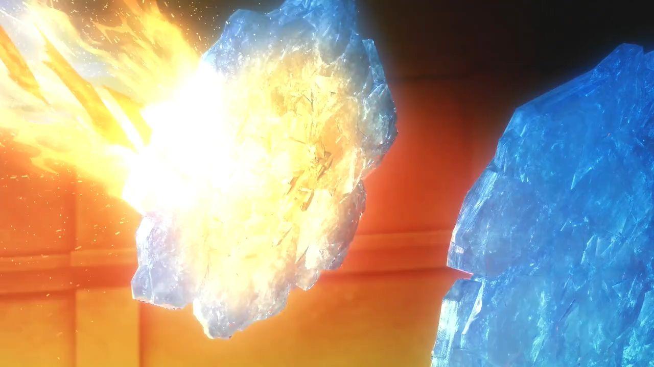 图15-7 ep14 桐人用冰盾挡 Deusolbert 的火箭