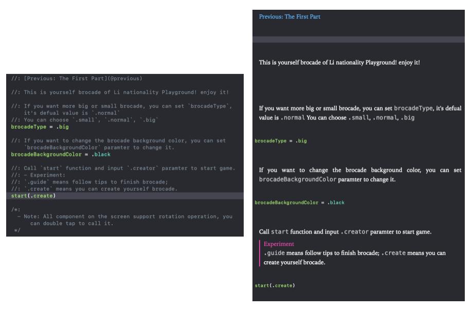 Xcode markdown
