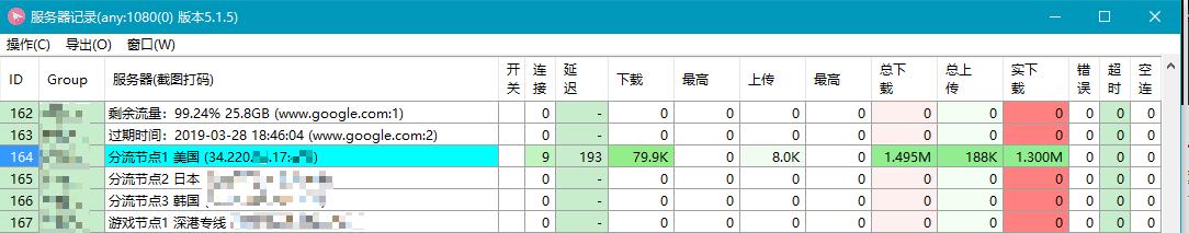 选择SSR服务器节点
