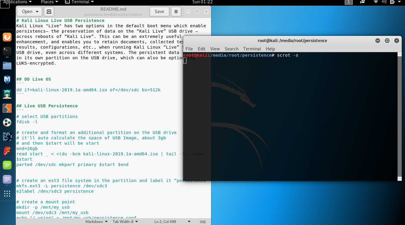 Kali Linux Live USB Persistence - C K