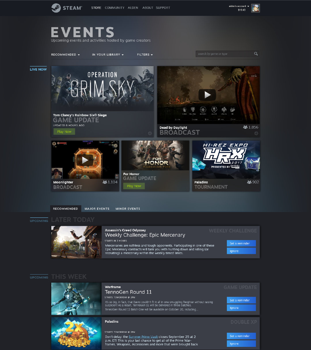 Steam UI
