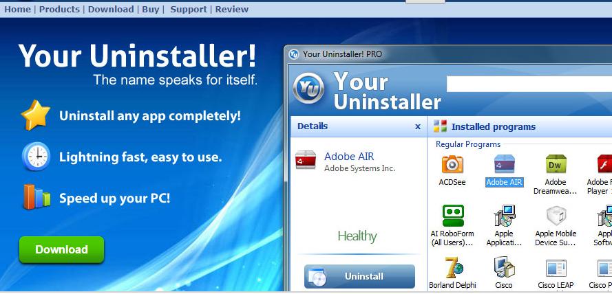 快速卸载软件和残余,很Nice的一款卸载工具—Your Unin-staller!