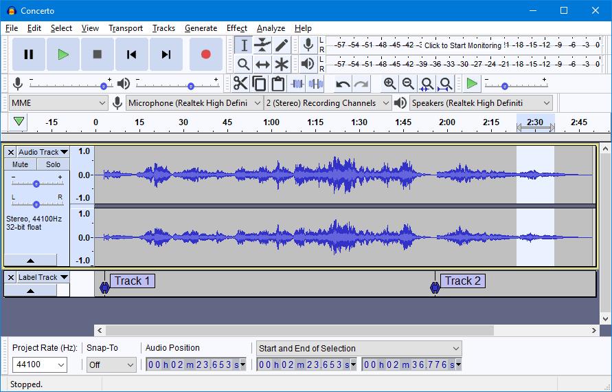 Audacity开源音频编辑软件