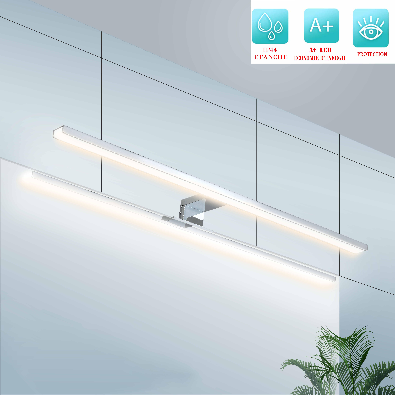 Applique Miroir Salle de Bain Lampe Miroir LED 15W 15cm Applique
