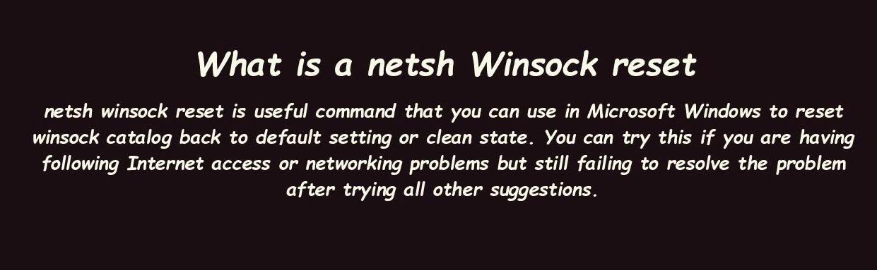 """如何在Windows 10中使用""""Netsh Winsock Reset""""?"""