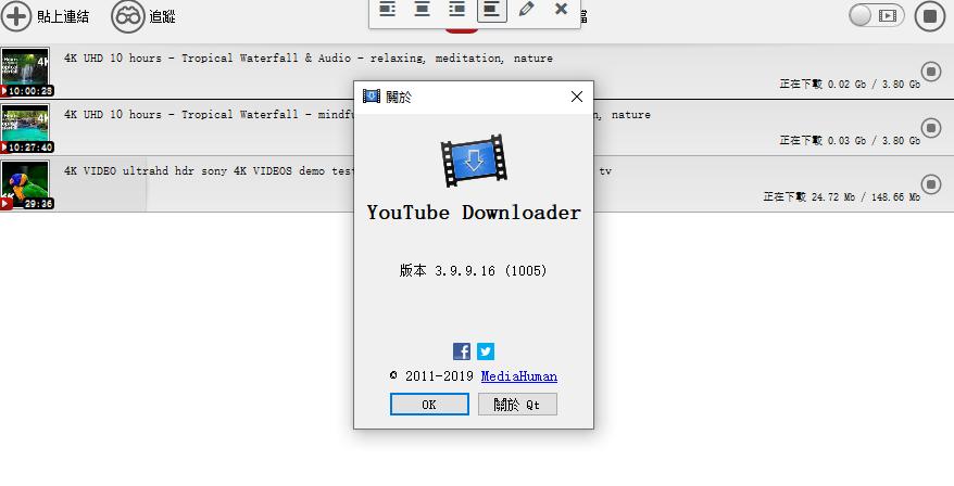 油管下载工具 MediaHuman YouTube Downloader 特别版