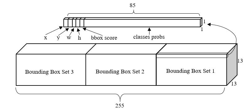 输出张量的结构示意图