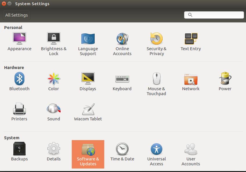 软件与更新