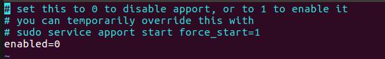 enable 的值从 1 改为 0
