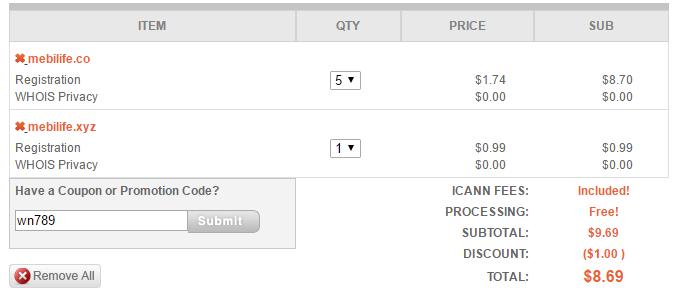 NameSilo:$0.99低价域名促销