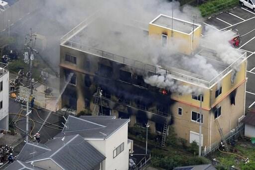 京都动画第一工作室遭纵火,已造成多人死亡
