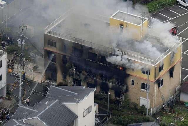 日本京都动画工作室人为火灾-损失惨重
