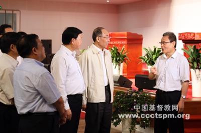 中共中央书记处书记、中央统战部部长尤权同志莅临金陵协和神学院调研考察
