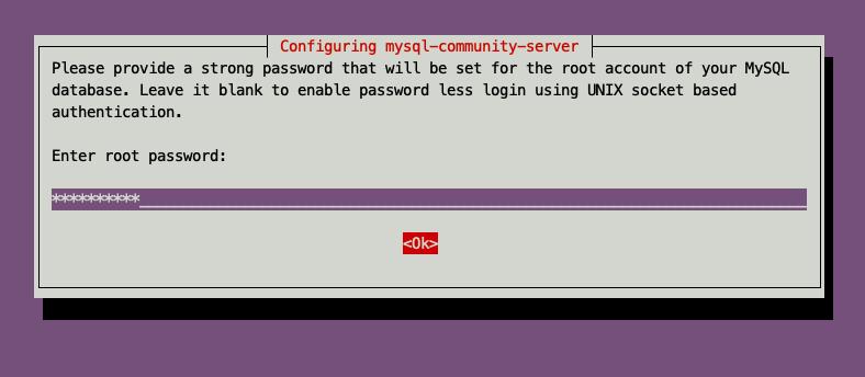 输入root密码