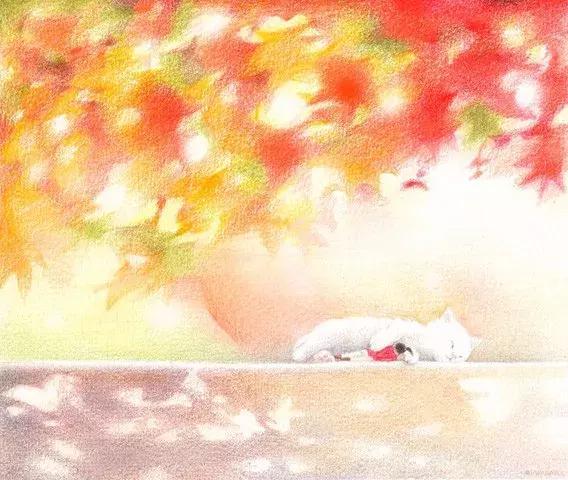 温暖明亮的色调,暖心的画面情节的彩铅,看了觉得好幸福