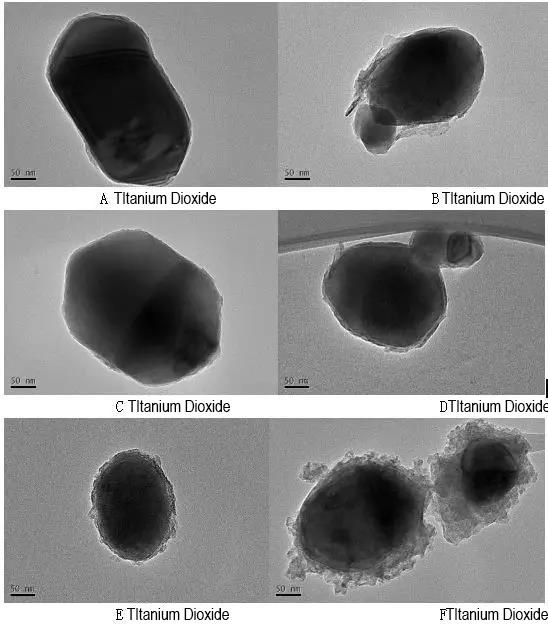 Fig.1: Titanium dioxide TEM image