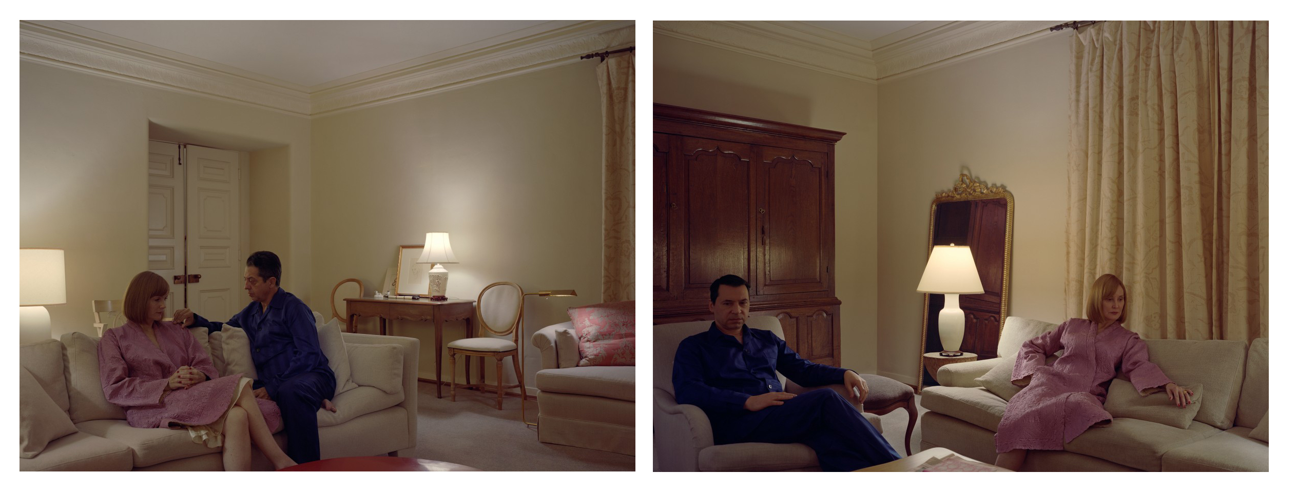 Pair of interiors, Jeff Wall, 2018