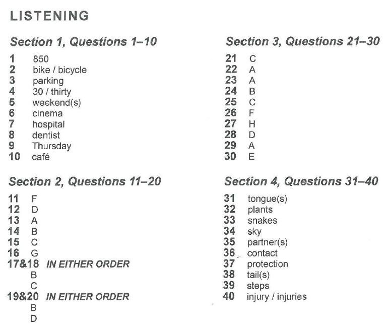 剑桥雅思13听力第三套题目答案