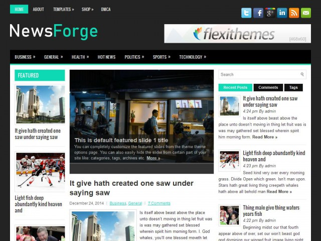 NewsForge Free Responsive WordPress Theme News/Magazine-第1张
