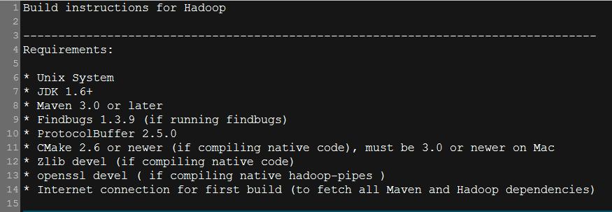 Build instructions for Hadoop