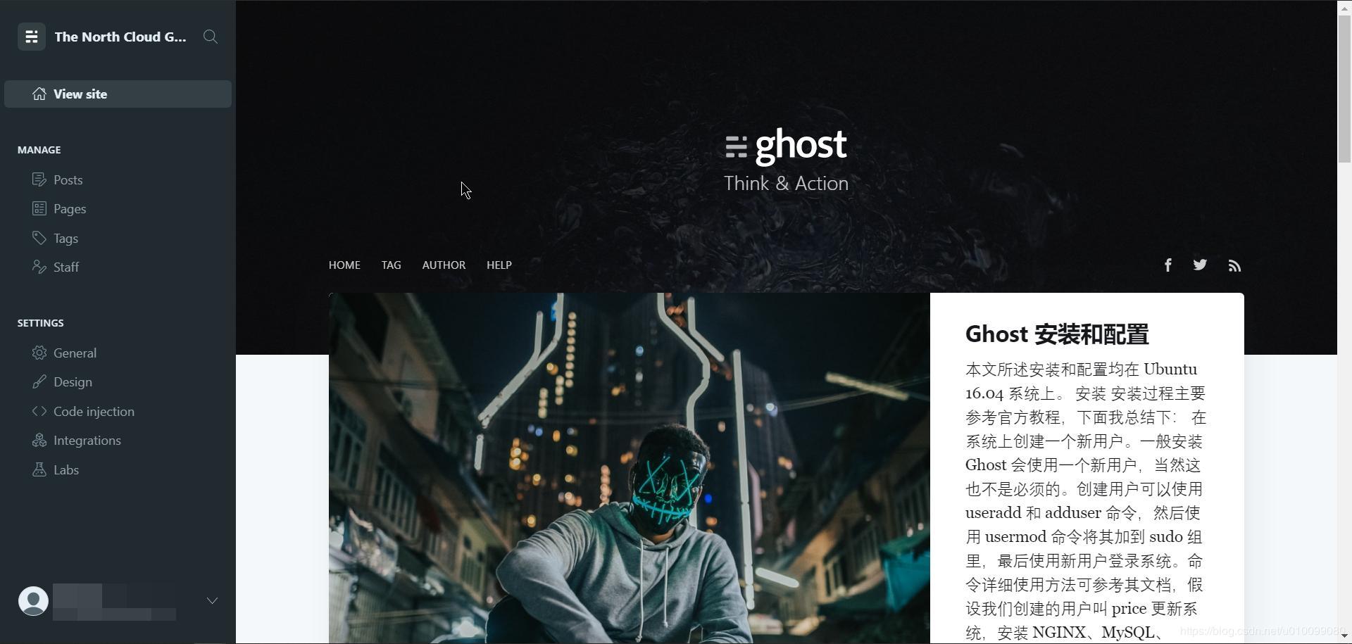 Ghost 后台