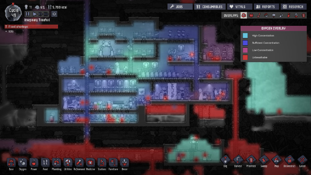 超耐玩PC生存益智游戏《缺氧》