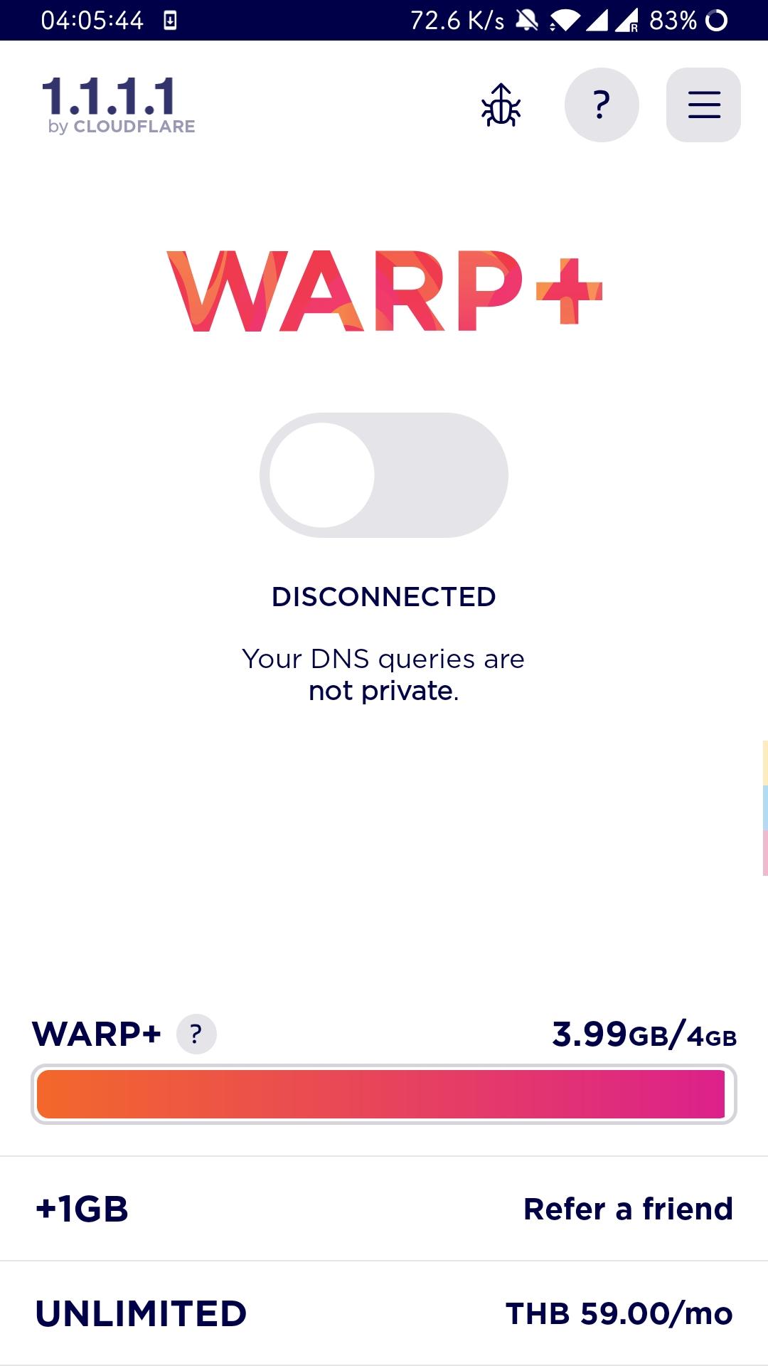 Cloudflare warp刷流量