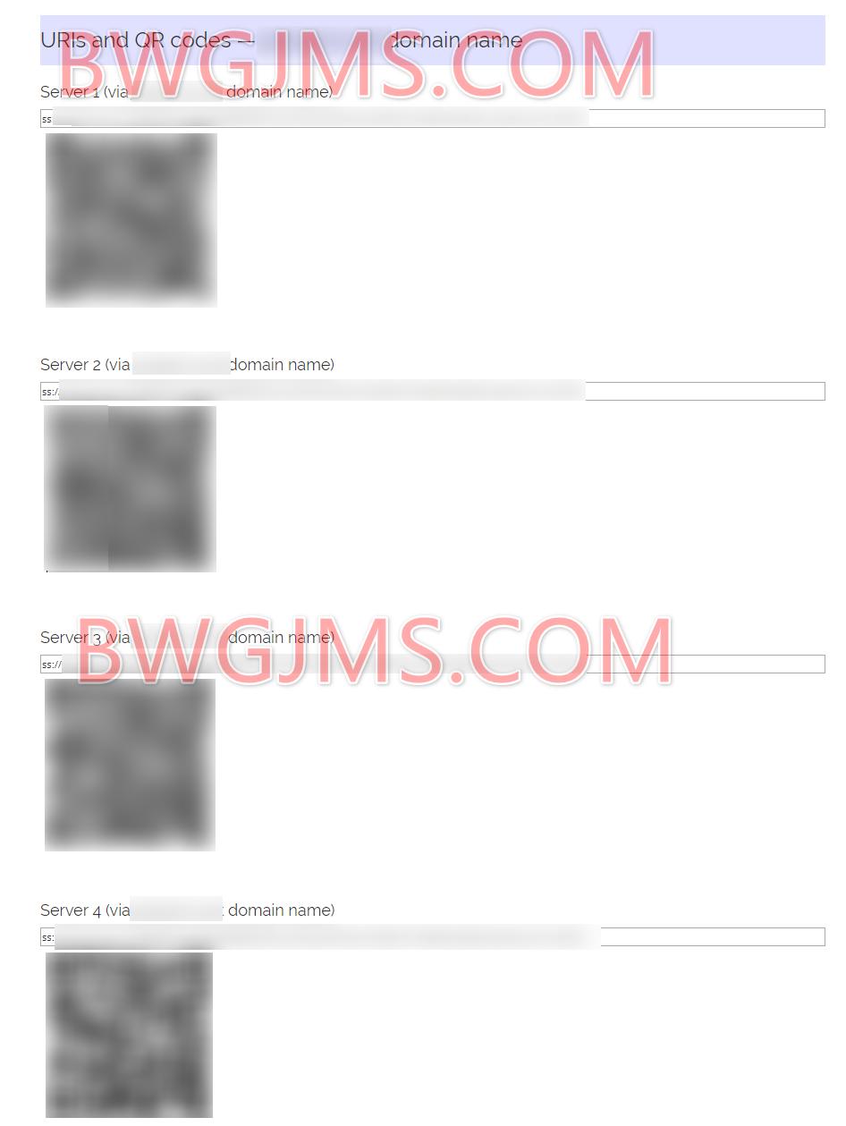Shadowsocks 配置信息二维码