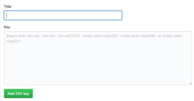 new SSH Key