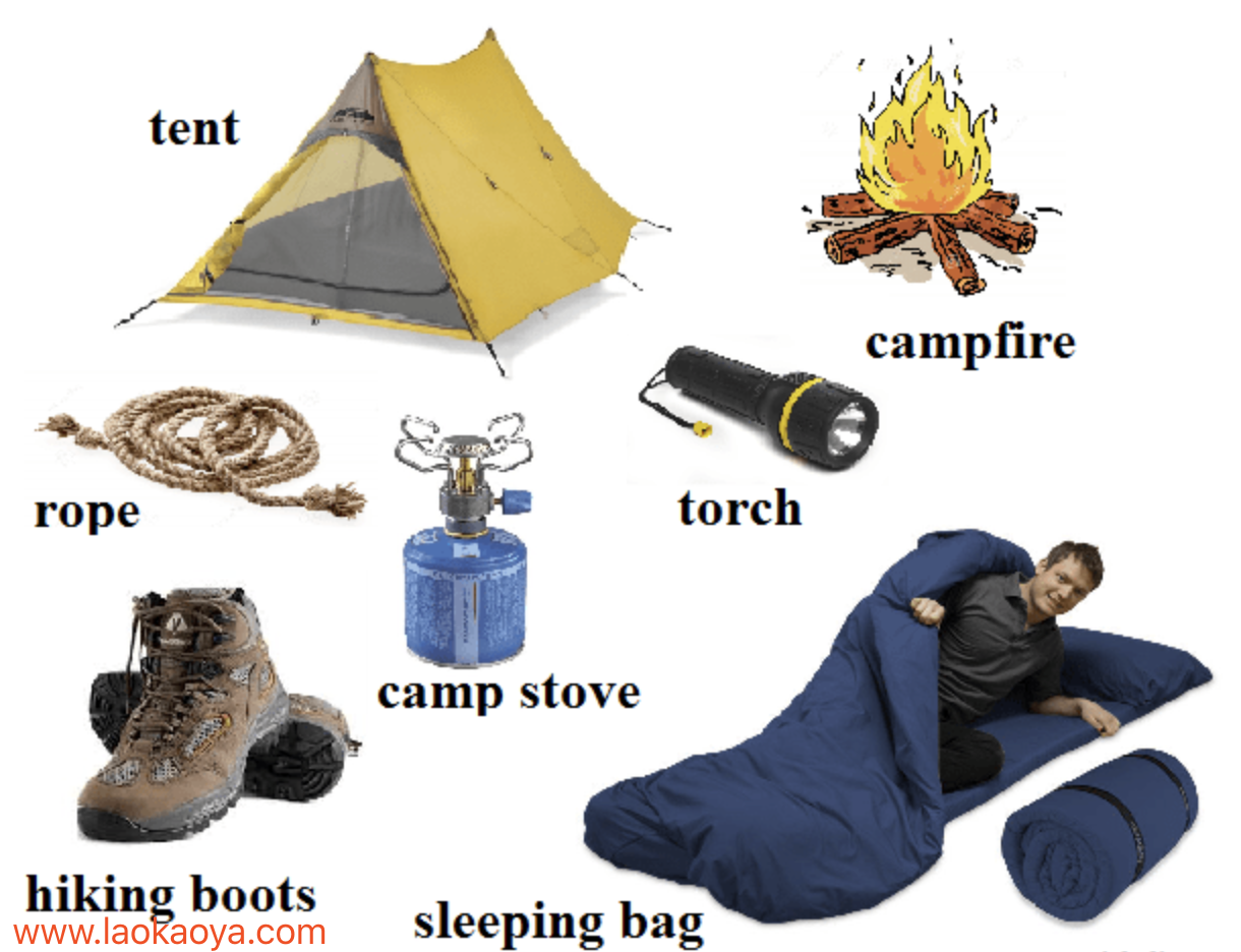 雅思旅游詞匯露營camping野營 考前必背