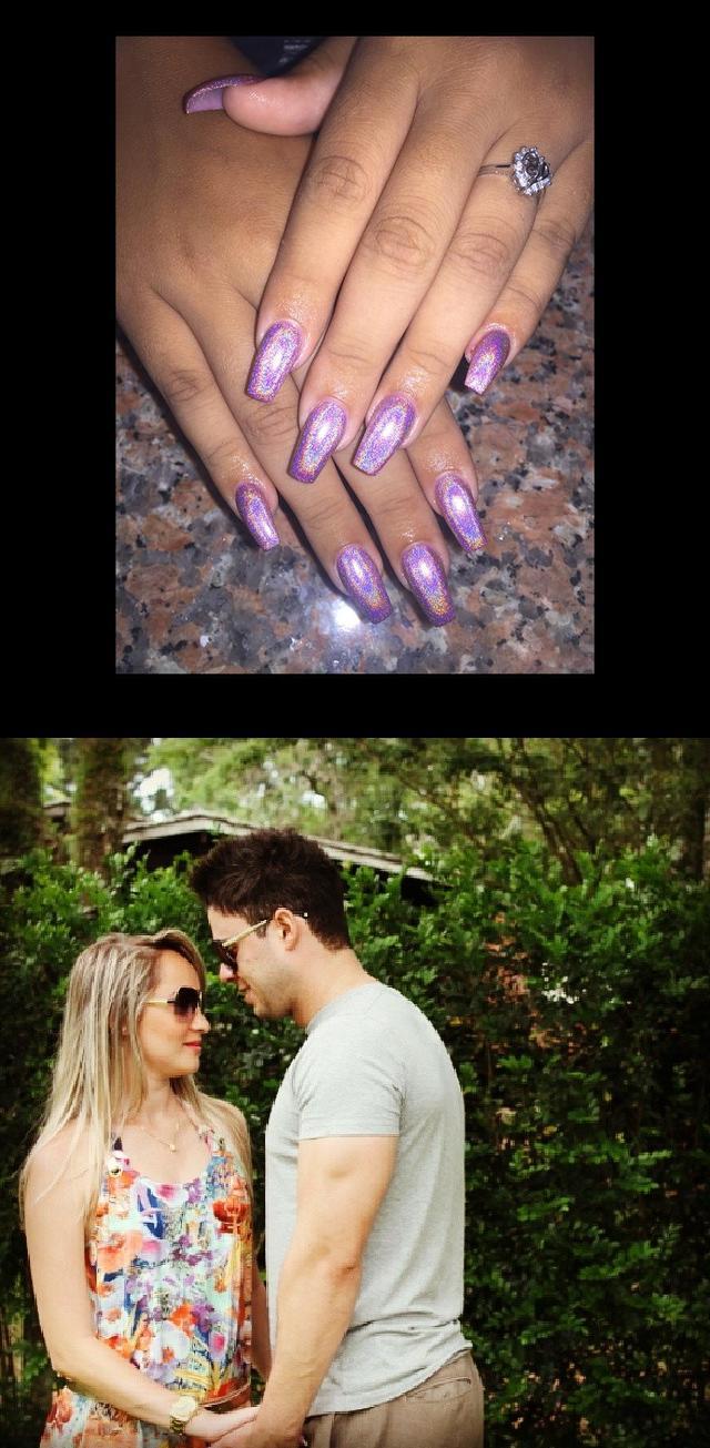 nice nails,amazing nails,Vocsabe me fazer feliz! Te amo , cute , namorado , forever , amor , boyfriend , parasempre  Gel Pink Holographic Coffin Nails