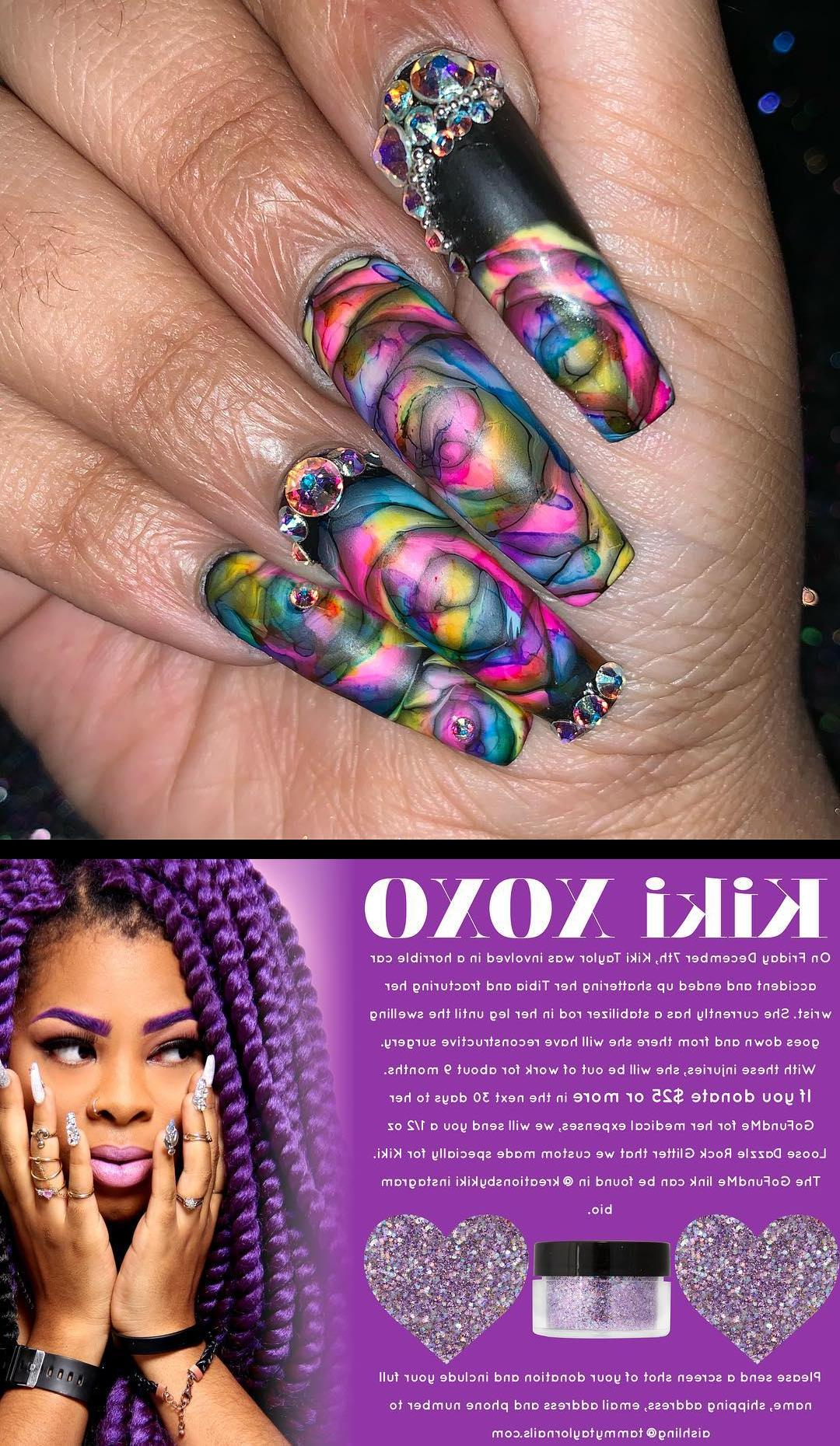 top nails,acrylic nails,Rainbow dripppp , nopolish , allacrylic , kreationsbykiki , nails , ncnails , raleighnails , durhamnails , glitter , glitternails , tumblr , nailsofinstagram , nailsoftheday , nailpro , fashion , nailart , nailtutorial , bgdn , blackgirlsdonails , blacknailtechs , naillife , nailsmagazine , tumblrfeature , dulcenailsprinkles tammytaylornails will send a free 1/2 oz KIKI loose dazzle rock glitter (custom made especially for me) to anyone who donates $25 or more in the next 30 days to my GOFUNDME OR CASH APP  for medical expenses. Click the link in my bio and screenshot your confirmed donation as well as your full name, email address, shipping address and phone number to aishlingtammytaylornails.com to claim yours! Thank you so much tammytaylornails and lingmitchelll this means the world to me!  MAKE SURE YOU SPELL THE EMAIL CORRECTLY!!