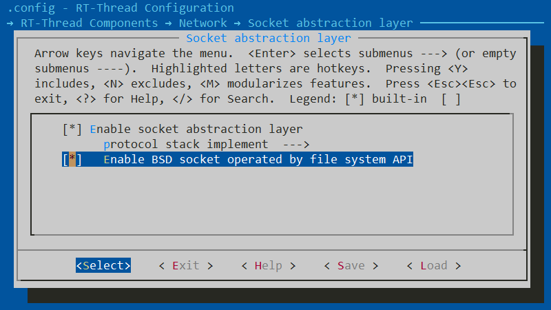 图3 env 开启 BSD Socket