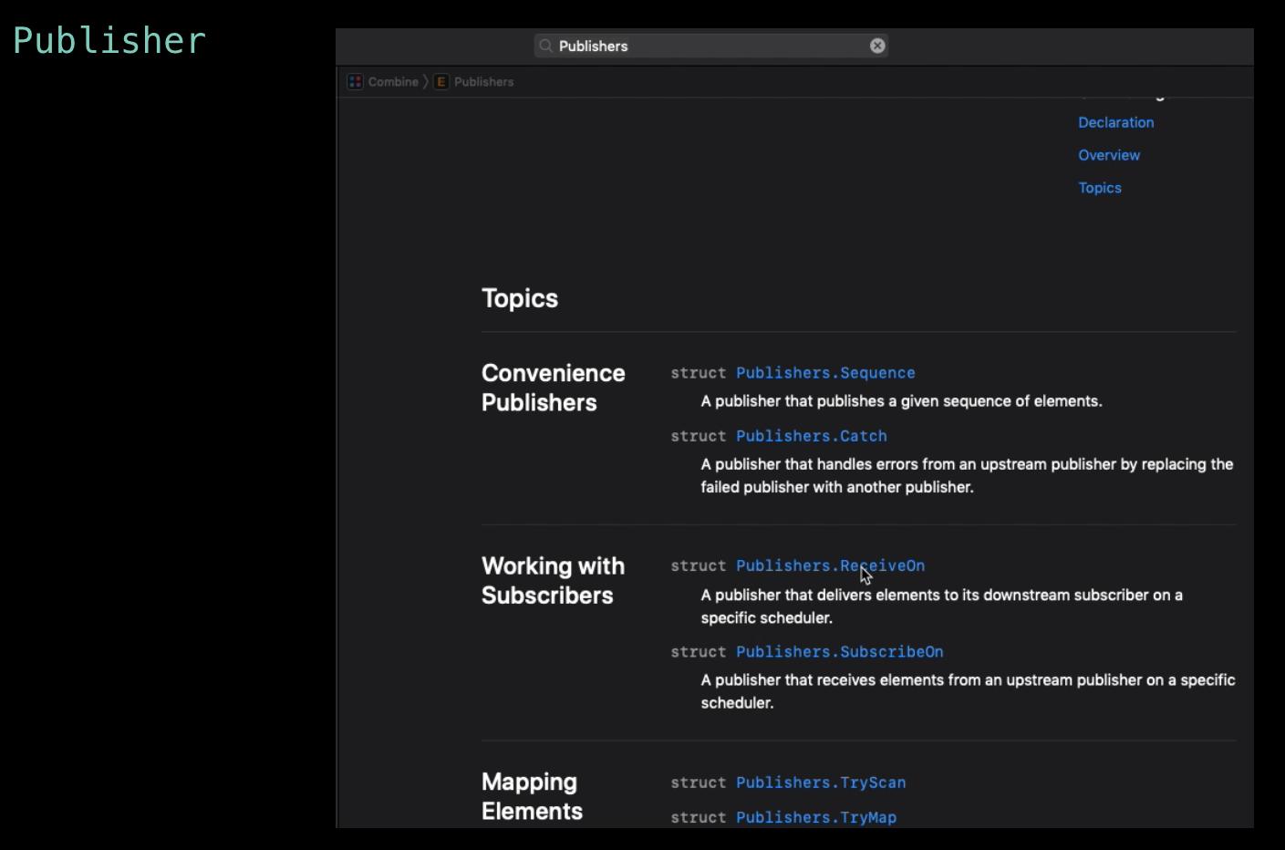 Apple 提供了满足几乎所有场景的 Publiser