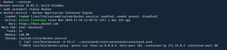 检查 Docker 服务状态