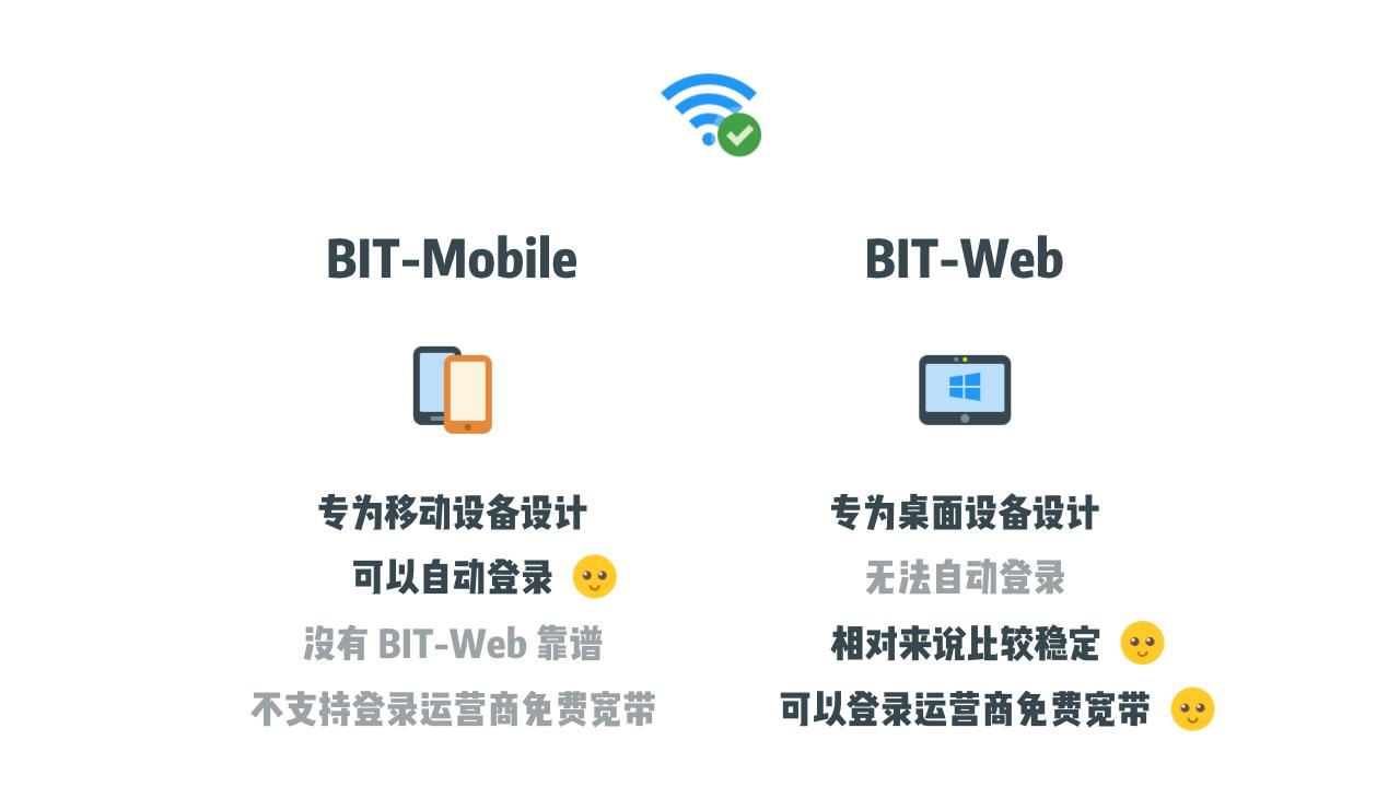 BIT-Web 和 BIT-Mobile 的对比