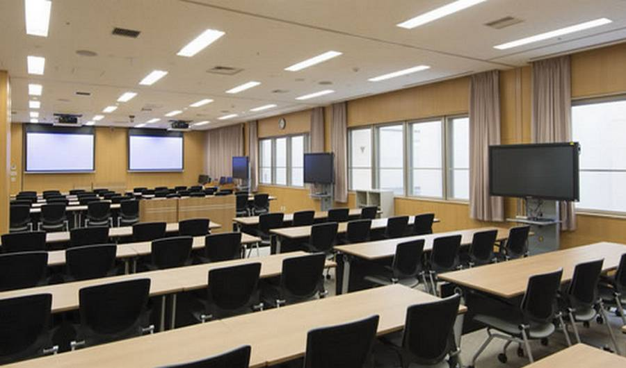 LED panel lights application in university classroom led flat panel light lighting the college classroom