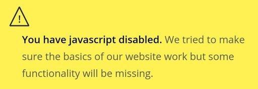 NextCloud 关闭 JS 后的提示