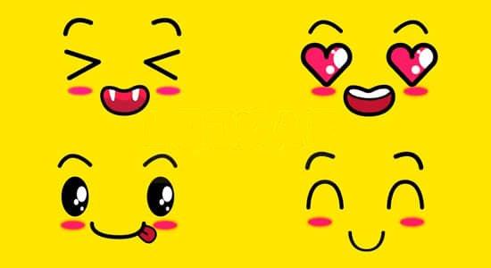 可爱的卡通综艺笑脸视频素材[18个]